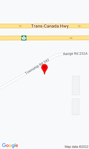Google Map of Bison Iron 254 Twp Road, Strathmore, AB, T1P 1J6